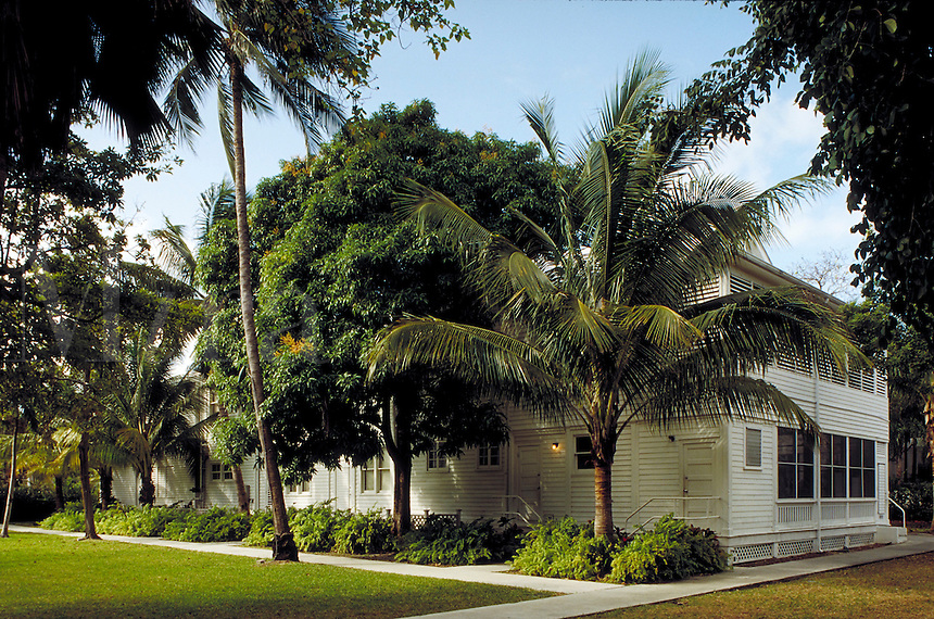 "Former President Harry S. Truman's """"Little White House""""in Key West, Florida. It was part of a U.S. Naval Base and was built circa 1890. architecture, landmarks. Key West Florida, Florida Keys."
