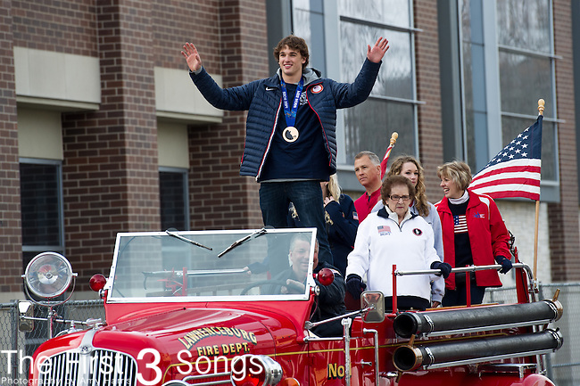Parade and celebration for olympic slopestyle bronze medalist Nick Goepper in Lawrenceburg, Indiana.
