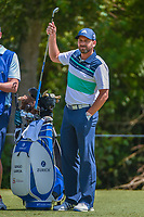 Sergio Garcia (ESP) looks over his tee shot on 3 during Round 1 of the Zurich Classic of New Orl, TPC Louisiana, Avondale, Louisiana, USA. 4/26/2018.<br /> Picture: Golffile | Ken Murray<br /> <br /> <br /> All photo usage must carry mandatory copyright credit (&copy; Golffile | Ken Murray)