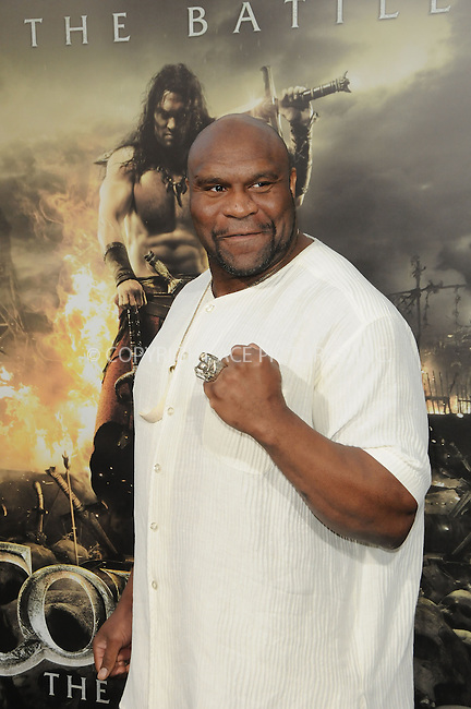 WWW.ACEPIXS.COM . . . . .  ....August 11 2011, LA....Kickboxer and actor Bob Sapp arriving at the premiere 'Conan The Barbarian' on August 11, 2011 in Los Angeles, California....Please byline: PETER WEST - ACE PICTURES.... *** ***..Ace Pictures, Inc:  ..Philip Vaughan (212) 243-8787 or (646) 679 0430..e-mail: info@acepixs.com..web: http://www.acepixs.com