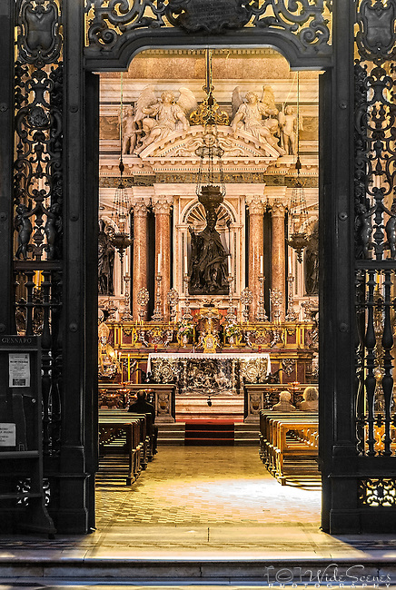 The interior of Duomo di Napoli or Naples Cathedral is a Roman Catholic cathedral, the main church of Naples in the Campania region of southern Italy, and the seat of the Archbishop of Naples. It is also widely known as the Cattedrale di San Gennaro, in honour of Saint Januarius, the city's patron saint.
