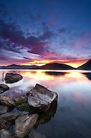 Sunrise at Paddock Bay, Lake Wanaka, South Island, New Zealand