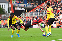 Dan Gosling of Bournemouth takes a tumble outside the penalty area during AFC Bournemouth vs Watford, Premier League Football at the Vitality Stadium on 12th January 2020