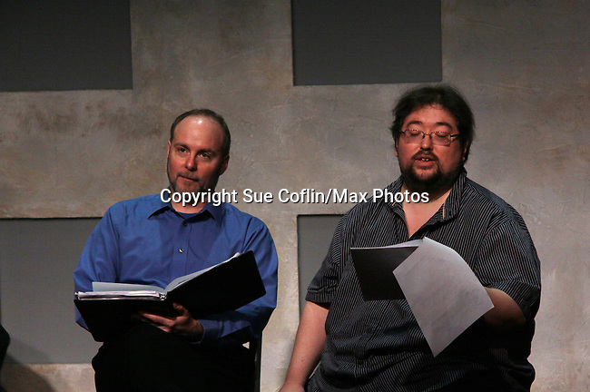 "Richard Kent Green & Scott Sickles (One Life To Live)  in ""Verbatim Verboten - NYC"" on October 18, 2010 at the WorkShop Theater, NYC. (Photo by Sue Coflin/Max Photos)"