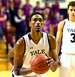 February 28, 2020: Jordan Bruhner [23] scores one of his 15 points as the Bulldogs defeated Penn, 76-73.  Yale was down 10 points with 2:28 left  .The exciting Ivy League matchup was held at Payne Whitney Gymnasium in New Haven Connecticut.  Heary/Eclipsesportswire/CSM