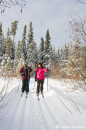 Winter recreation in the snow
