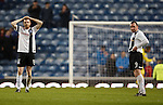 Dejection from Ayr's Craig Malcolm and Michael Moffatt at full time