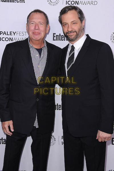 BEVERLY HILLS, CA - MARCH 10:  Garry Shandling and Judd Apatow arrive at the 2014 PaleyFest Icon Award to Judd Apatow at the Paley Center for the Media on March 10, 2014 in Beverly Hills, California. <br /> CAP/MPI/213<br /> &copy;MPI213/MediaPunch/Capital Pictures