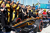 2017 Verizon IndyCar Series<br /> Toyota Grand Prix of Long Beach<br /> Streets of Long Beach, CA USA<br /> Sunday 9 April 2017<br /> James Hinchcliffe celebrates with his crew in victory lane<br /> World Copyright: Phillip Abbott/LAT Images<br /> ref: Digital Image lat_abbott_lbgp_0417_15292