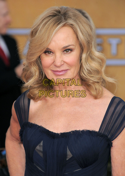 Jessica Lange.Arrivals at the 19th Annual Screen Actors Guild Awards at the Shrine Auditorium in Los Angeles, California, USA..27th January 2013.SAG SAGs headshot portrait black navy blue sheer.CAP/DVS.©DVS/Capital Pictures.