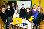 Nohoval NS, Ballymac is one of the First Primary schools to give students a First Aid Course, will now be giving the course to  adults. Pictured l-r  Gwen Holmes, Rachel Reynolds, Adam Joy, Sean Polman Daamen, Marie Devoy, Kathleen Reidy, Sheila McCarthy with instructor Frank O'Connor