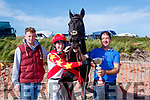 Winner<br /> ---------<br /> L-R Mark O'Sullivan, Rory king, and owner of Chamber of Secrets, Gerard O'Connor from Glenbeigh after winning the biggest race at the B&eacute;al B&aacute;n races in Ballyferritor last Sunday.