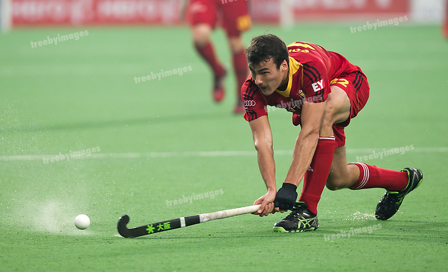 Mens Hockey World league Final Delhi 2014<br /> Day 6, 18-01-2014<br /> Position 5-6 Belgium v India<br /> Simon Gougnard of the Netherlands<br /> <br /> Photo: Grant Treeby / treebyimages