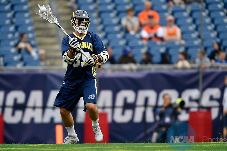 FOXBORO, MA - MAY 28: Max Allen (39) of Merrimack College with the ball during the Division II Men's Lacrosse Championship held at Gillette Stadium on May 28, 2017 in Foxboro, Massachusetts. (Photo by Larry French/NCAA Photos via Getty Images)