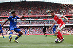 Aaron Ramsey of Arsenal and Everton's Ashley Williams during the English Premier League match at the Emirates Stadium, London. Picture date: May 21st 2017.Pic credit should read: Charlie Forgham-Bailey/Sportimage