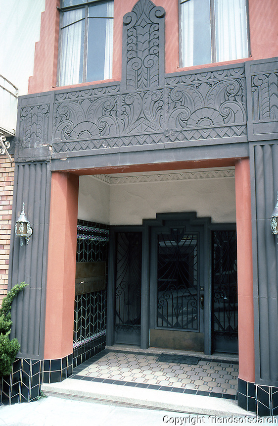 San Francisco: 3030 Larkin, near Beach St.  1930's Apartment Entrance.  Photo '84.