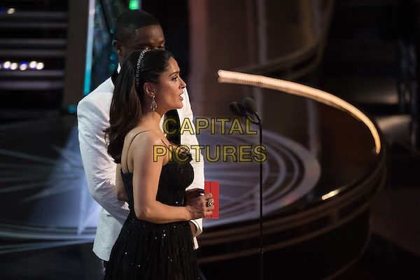 Salma Hayek and David Oyelowo presents during the live ABC Telecast of The 89th Oscars&reg; at the Dolby&reg; Theatre in Hollywood, CA on Sunday, February 26, 2017.<br /> *Editorial Use Only*<br /> CAP/PLF/AMPAS<br /> Supplied by Capital Pictures