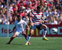 Abby Wambach, Daniela Cruz.  The USWNT defeated Costa Rica, 8-0, during a friendly match at Sahlen's Stadium in Rochester, NY.