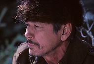 Alberta, Canada - 1980. Picture of actor Charles Bronson on the set of Death Hunt, a 1981 film directed by Peter Hunt, co starring Lee Marvin. Charles Bronson (November 3, 1921 - August 30, 2003) was an American film and television actor, best known for his roles in Once Upon a Time in the West, The Magnificent Seven, The Dirty Dozen and the Great Escape.