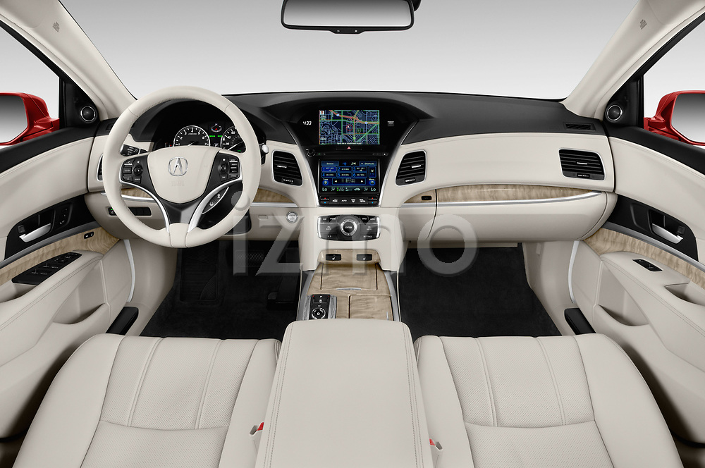 Stock photo of straight dashboard view of 2018 Acura RLX - 4 Door Sedan Dashboard