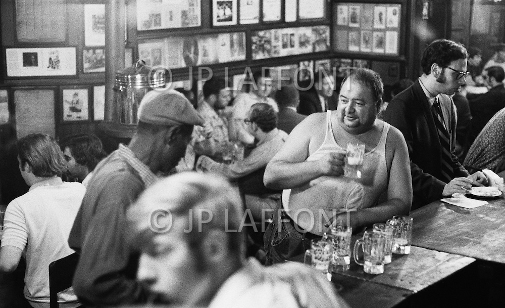 Manhattan, New York City, NY. August 1970.  <br />