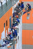 Construção do Conjunto Habitacional Poesi do Programa de Aceleração do Crescimento - PAC - Complexo do Alemão. Rio de Janeiro. 2010. Foto de Rogério Reis.