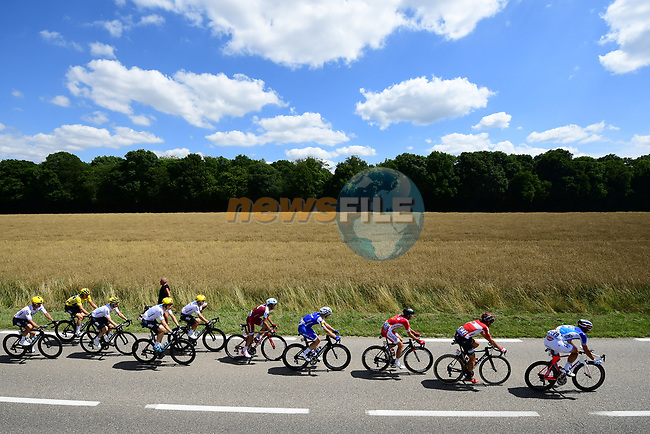 The peloton in action during Stage 4 of the 104th edition of the Tour de France 2017, running 207.5km from Mondorf-les-Bains, Luxembourg to Vittel, France. 4th July 2017.<br /> Picture: ASO/Alex Broadway | Cyclefile<br /> <br /> <br /> All photos usage must carry mandatory copyright credit (&copy; Cyclefile | ASO/Alex Broadway)