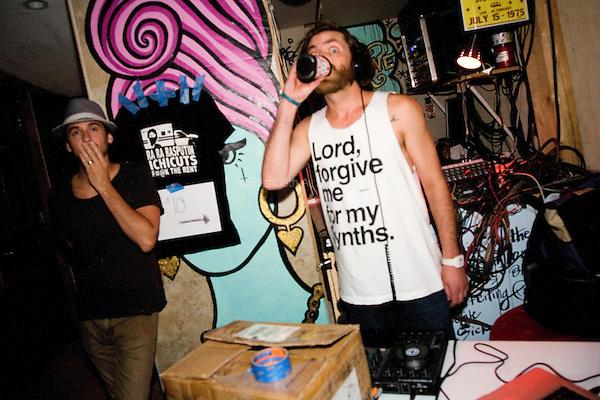 Rar Kelly djs at Velvet Lounge in Washington, DC on July 12, 2013.