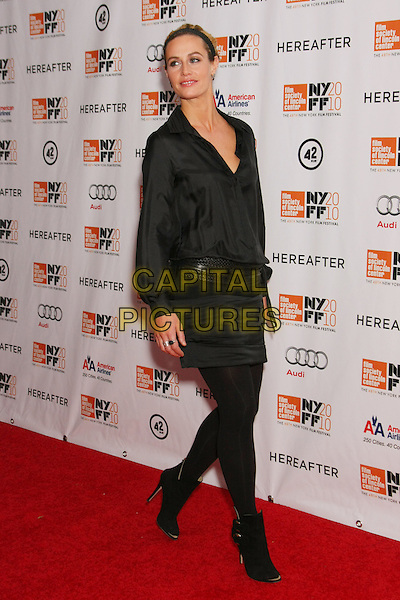 "CECILE DE FRANCE .attends the Gala screening of ""Hereafter"" on the Closing Night of the 48th New York Film Festival at Alice Tully Hall, Lincoln Center,  New York, NY, USA, October 10th, 2010..full length black shirt skirt tights ankle boots belt .CAP/LNC/TOM.©LNC/Capital Pictures."