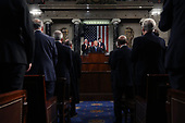 WASHINGTON, DC - JANUARY 30:  U.S. President Donald J. Trump delivers the State of the Union address in the chamber of the U.S. House of Representatives January 30, 2018 in Washington, DC. This is the first State of the Union address given by U.S. President Donald Trump and his second joint-session address to Congress. <br /> Credit: Win McNamee / Pool via CNP