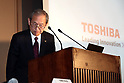 March 14, 2017, Tokyo, Japan - Troubled Japanese electroinics giant Toshiba president Satoshi Tsunakawa announces the company delayed to release financial result at the Toshiba headquarters in Tokyo on Monday, March 14, 2017. If Toshiba fails to meet the next deadline, it could be delisted from the Tokyo Stock Exchange.    (Photo by Yoshio Tsunoda/AFLO) LwX -ytd-