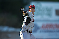 Hickory Crawdads starting pitcher Brett Martin (10) in action against the Kannapolis Intimidators at CMC-Northeast Stadium on May 22, 2015 in Kannapolis, North Carolina.  The Intimidators defeated the Crawdads 4-3.  (Brian Westerholt/Four Seam Images)