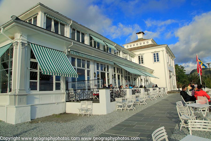 Floien Folkerestaurant restaurant cafe, Mount Floyen, Bergen, Norway built in 1925
