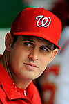 12 April 2008: Washington Nationals' pitcher Chris Schroder looks out from the dugout prior to a rain delayed game against the Atlanta Braves at Nationals Park, in Washington, DC. The Braves defeated the Nationals 10-2...Mandatory Photo Credit: Ed Wolfstein Photo