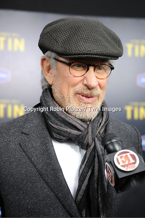 "Director Steven Spielberg attends The US Premiere of "" The Adventures of TinTin""..on December 11, 2011 at The Ziegfeld Theatre in New York City."