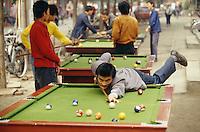 Street billiard tables.