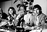May 6, 1985 File Photo -  News conference for the movie HOLD UP ( a French-Quebec co production shot in Montreal) with actors Jean-Paul Belmondo and Alexandre Arcady, filmaker