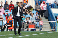 01.04.2012 MADRID, SPAIN -  La Liga match played between At. Madrid vs Getafe (3-0) at Vicente Calderon stadium. the picture show Diego Pablo Simeone coach of Atletico de Madrid