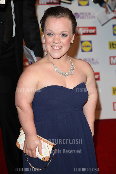 Ellie Simmonds arriving for the 2012 Pride of Britain Awards, at the Grosvenor House Hotel, London. 29/10/2012 Picture by: Alexandra Glen / Featureflash