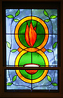 McGlinn Hall Chapel stained glass window..Photo by Matt Cashore..