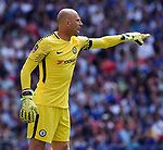 Chelsea goalkeeper Wilfredo Caballero during the FA cup semi-final match at Wembley Stadium, London. Picture date 22nd April, 2018. Picture credit should read: Robin Parker/Sportimage