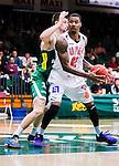 S&ouml;dert&auml;lje 2014-10-11 Basket Basketligan S&ouml;dert&auml;lje Kings - Ume&aring; BSKT :  <br /> Ume&aring;s Germaine Jordan i kamp om bollen med S&ouml;dert&auml;lje Kings Darko Jukic <br /> (Foto: Kenta J&ouml;nsson) Nyckelord:  S&ouml;dert&auml;lje Kings SBBK Basket Basketligan T&auml;ljehallen Ume&aring; BSKT