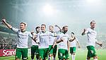 Stockholm 2014-09-28 Fotboll Superettan Hammarby IF - IK Sirius :  <br /> Hammarbys Erik Israelsson jublar efter sitt 1-0 m&aring;l tillsammans med Fredrik Torsteinb&ouml; Torsteinb&oslash; , Kennedy Bakircioglu och Johan Persson <br /> (Foto: Kenta J&ouml;nsson) Nyckelord:  Superettan Tele2 Arena Hammarby HIF Bajen Sirius IKS jubel gl&auml;dje lycka glad happy