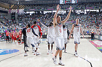 USA's players celebrate the victory in the 2014 FIBA Basketball World Cup Round of 16 match.September 6,2014.(ALTERPHOTOS/Acero)