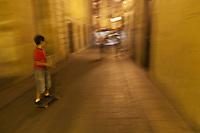 Europe/Espagne/Pays Basque/Guipuscoa/Goierri/Ordizia: Ruelle - Scène de rue