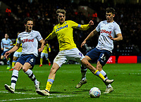 Leeds United's Patrick Bamford tries to turn a cross goalward<br /> <br /> Photographer Alex Dodd/CameraSport<br /> <br /> The EFL Sky Bet Championship - Preston North End v Leeds United -Tuesday 9th April 2019 - Deepdale Stadium - Preston<br /> <br /> World Copyright &copy; 2019 CameraSport. All rights reserved. 43 Linden Ave. Countesthorpe. Leicester. England. LE8 5PG - Tel: +44 (0) 116 277 4147 - admin@camerasport.com - www.camerasport.com