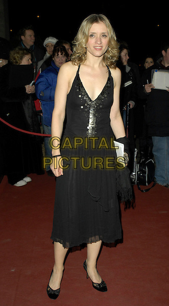 ANNE-MARIE DUFF.Arrivals - Laurence Olivier Awards at the Grosvenor Hotel, Park Lane, London, UK..February 18th, 2007.full length black dress sequins anne marie.CAP/CAN.©Can Nguyen/Capital Pictures