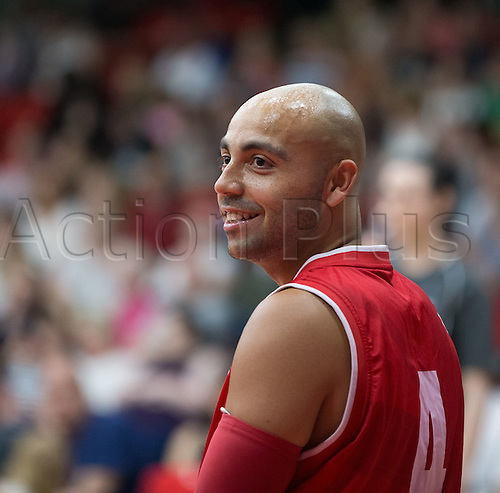 03.07.2016. Leicester Sports Arena, Leicester, England. Continental Clash Wheelchair Basketball, England versus Canada. Gaz Choudhry (GBR) during the match
