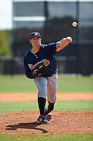 Atlanta Braves pitcher Chase Johnson-Mullins (98) during an instructional league game against the Houston Astros on October 1, 2015 at the Osceola County Complex in Kissimmee, Florida.  (Mike Janes/Four Seam Images)