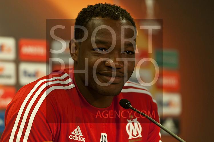 Voetbal: 16-9-2015,UEFA, Fc Groningen vs Olympique de Marseille,Pressconference,,Steve Mandanda of Olympique de Marseille